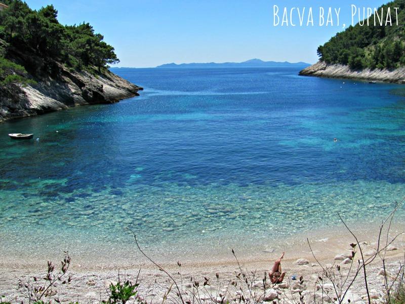 Secluded beaches on Korcula Island - Bacva Bay in Pupnat