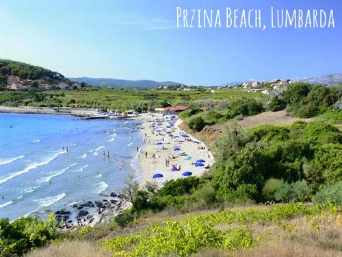 Sandy beach on Korcula Island - Przina in Lumbarda