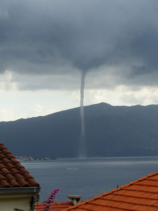Water Spout / Sea Tornado on Korcula Island - Best of Summer 2017 on Korcula