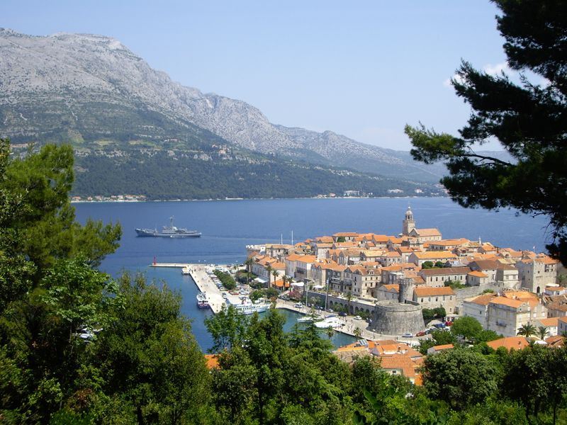 Panoramic & Viewspoints on Korcula Island - View of Korcula Old Town