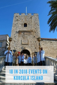 18 Events in 2018 on Korcula Island