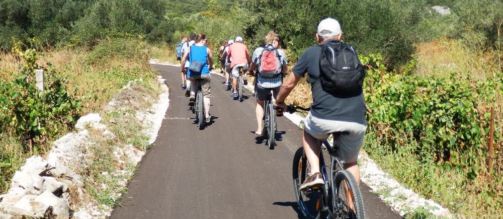 Cycling on Korcula Island